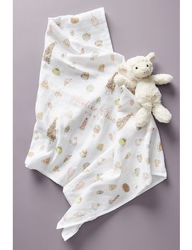 Organic Printed Swaddle by Atelier Choux