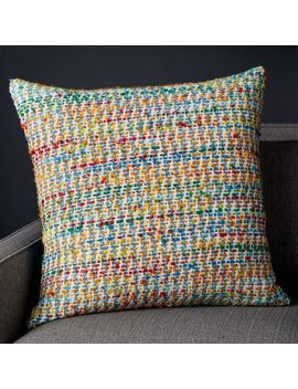 "Lucien Tweed Pillow 23"" by Crate&Barrel"