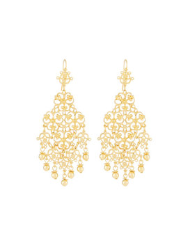 Large Filigree Drop Earrings by Jose & Maria Barrera