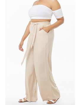 Plus Size Wide Leg Pants by Forever 21