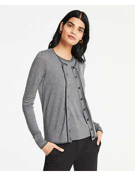 Tipped Ann Cardigan by Ann Taylor