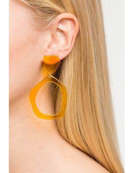 Organic Shape Lucite Drop Earring by A'gaci