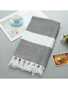 Beach Towel Tassel Cotton Geometric Pattern High Quality Hammam Peshtemal Towel by Ebay Seller