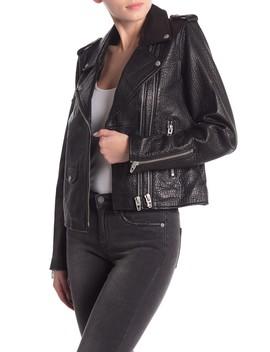 Genuine Leather Moto Jacket by Blanknyc Denim