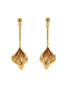 Calla Lily Drop Earrings by Oscar De La Renta