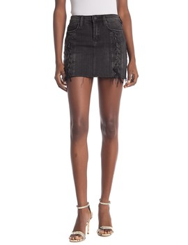 Lace Up Denim Skirt by Blanknyc Denim