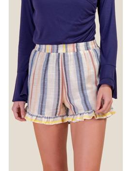 Patricia Ruffled Hem Shorts by Francesca's