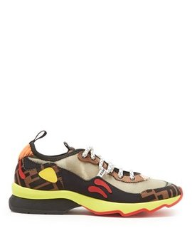 Freedom Panelled Trainers by Fendi