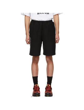 Black 'style' Sweat Shorts by Heron Preston