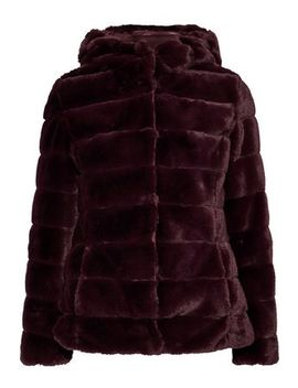 Quilted Faux Fur Hooded Coat by Line