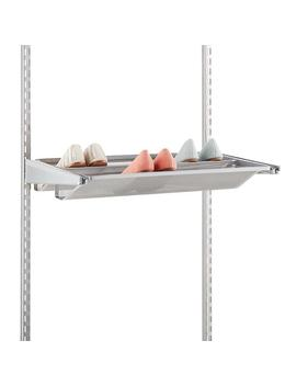 Platinum Elfa Gliding Mesh Shoe Shelves by Container Store