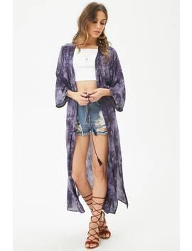 Tie Dye Longline Kimono by Forever 21