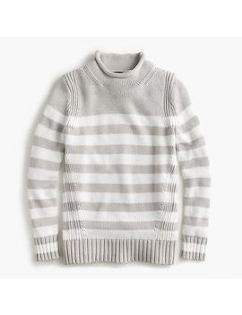 Women's 1988 Rollneck™ Sweater In Stripe by J.Crew