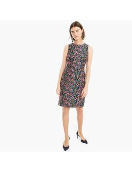 Sheath Dress In Botanic Jacquard by J.Crew