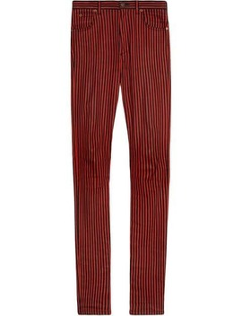 Super Skinny Denim Pant With Stripes by Gucci