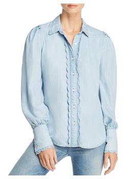 Scalloped Chambray Shirt by Frame