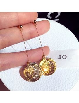 Athora   Coin Drop Earring by Athora