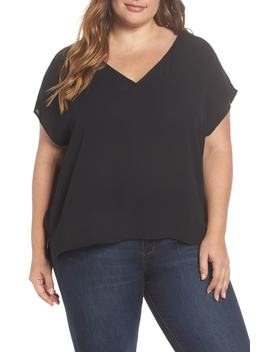 V Neck High/Low Top by Leith