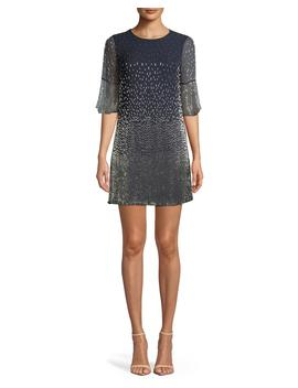 Thym Embellished Shift Trumpet Sleeve Tunic Dress by Alice + Olivia