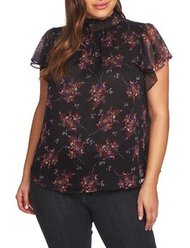Wildflower Flutter Sleeve Blouse by 1.State