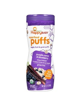 Happy Puffs Purple Carrot & Blueberry Puffs 2.1oz by Happy Baby
