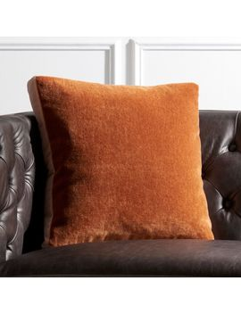 "18"" Cinnamon Mohair Pillow by Crate&Barrel"
