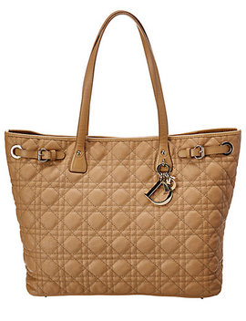 Christian Dior Beige Coated Canvas Panarea by Christian Dior