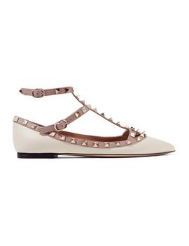 Chaussures Plates à Bouts Pointus En Cuir Rockstud Valentino Garavani by Valentino