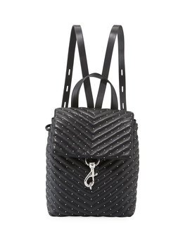 Edie Quilted Leather Flap Backpack by Rebecca Minkoff