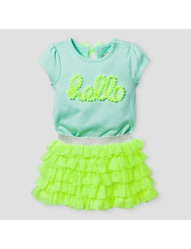 Baby Girls' Bodysuit And Ruffle Tutu Set   Cat & Jack™ Yellow by Cat & Jack