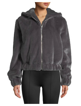 Hooded Faux Fur Bomber Jacket by Neiman Marcus