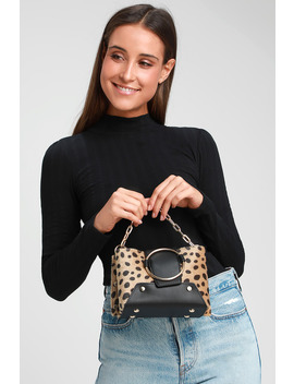 Kirby Leopard Print Mini Purse by Lulus
