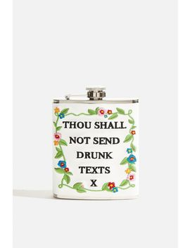 **Thou Shall Not Send Drunk Texts Hip Flask By Skinnydip by Topshop