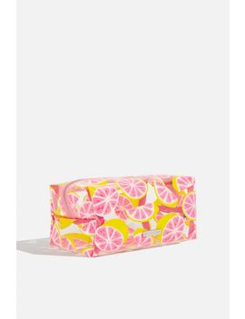 **Glitter Grapefruit Make Up Bag By Skinnydip by Topshop