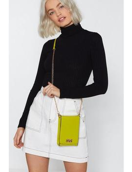 Want Little Lime Book Patent Crossbody Bag by Nasty Gal