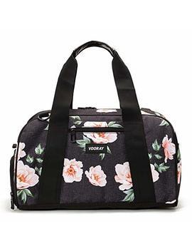 "Vooray Burner 16"" Compact Gym Bag With Shoe Pocket (Rose Black) by Vooray"