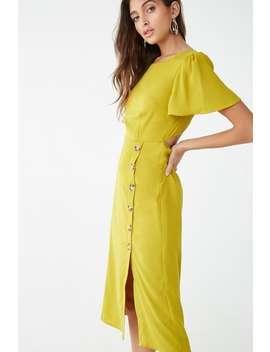 Open Back Knee Length Dress by Forever 21