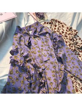 Baehype   Bow Accent Floral Blouse by Baehype
