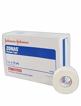 Zonas Porous Athletic Tape 1 Inch X 10 Yards (Box Of 12 Rolls) by Elastikon
