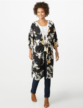 Floral Tied Duster by Dressbarn