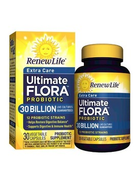 Renew Life Ultimate Flora Probiotic For Extra Care Vegetable Capsules   30 Billion Cfu   30ct by Re New Life
