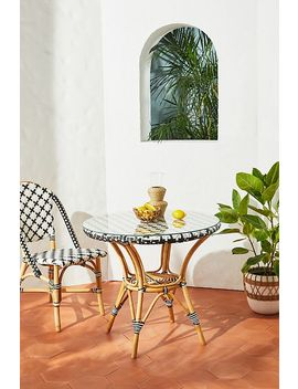 Woven Indoor/Outdoor Bistro Table by Anthropologie