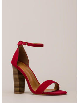 Lure Me In Chunky Ankle Strap Heels by Go Jane