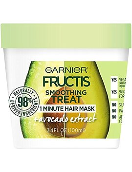 Garnier Fructis Smoothing 1 Minute Hair Mask, Avocado, 3.4 Fl. Oz. (Pack Of 2) by Amazon