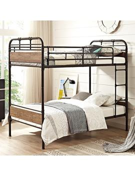 Twin Over Twin Metal Pipe Bunk Bed by Generic