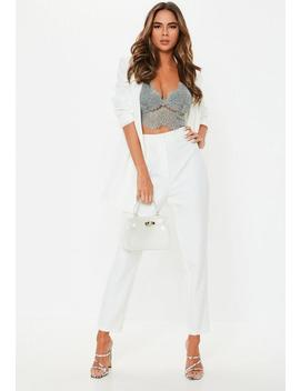 Grey Corded Lace Bralet by Missguided