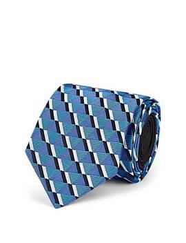 Geometric Pattern Silk Jacquard Necktie by Prada