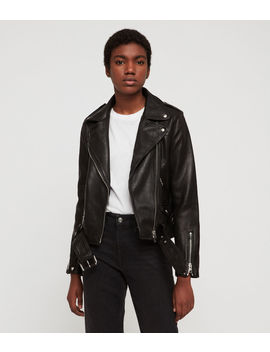Estae Hearts Leather Biker Jacket by Allsaints