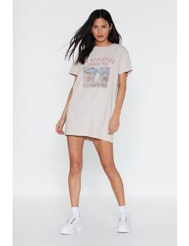 Ny Athletics Graphic Tee Dress by Nasty Gal