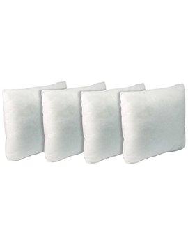"""California Pillow, 20"""" X 20"""", Set Of Four Premium Hypoallergenic Firm Throw Pillow Insert Stuffer Pillow Insert, White   Made In Usa by California Pillow"""
